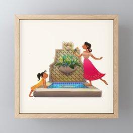 The Broken Fountain Framed Mini Art Print