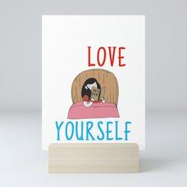 Learning To Love Yourself Self Confidence Self Improvement Mini Art Print