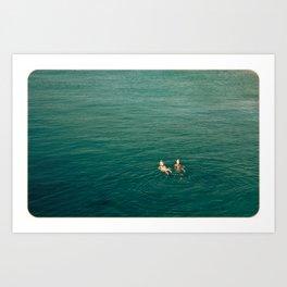 Swimming Art Print