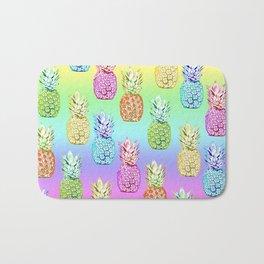 Pineapple Rainbow Bath Mat