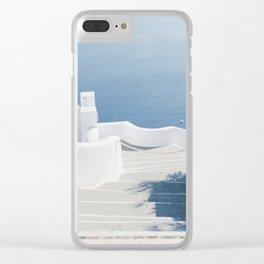 Santorini Stairs II (Landscape) Clear iPhone Case