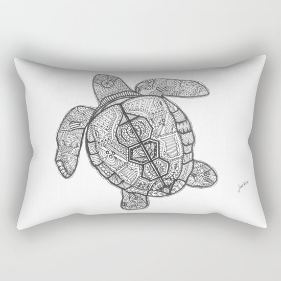 Sharpie Turtle Rectangular Pillow