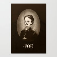 poe Canvas Prints featuring Poe by Karl Kwasny