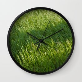 Waves of Grass Wall Clock