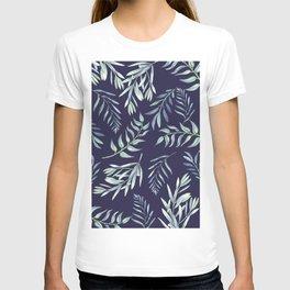 Floating Leaves Blue 2 #society6 #buyart T-shirt