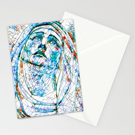 Glass stain mosaic 8 - Madonna, by Brian Vegas Stationery Cards