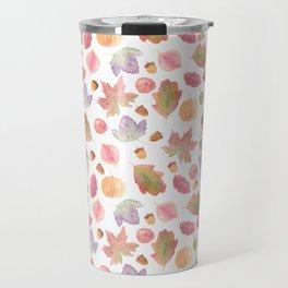 Watercolor Fall Leaves Travel Mug