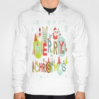 merry christmas Hoodies featuring MERRY CHRISTMAS by Acus