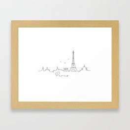 Pen line silhouette Paris Framed Art Print