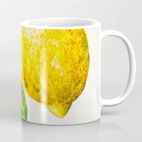 lemon Mugs featuring Lemon by Peiting Tsai