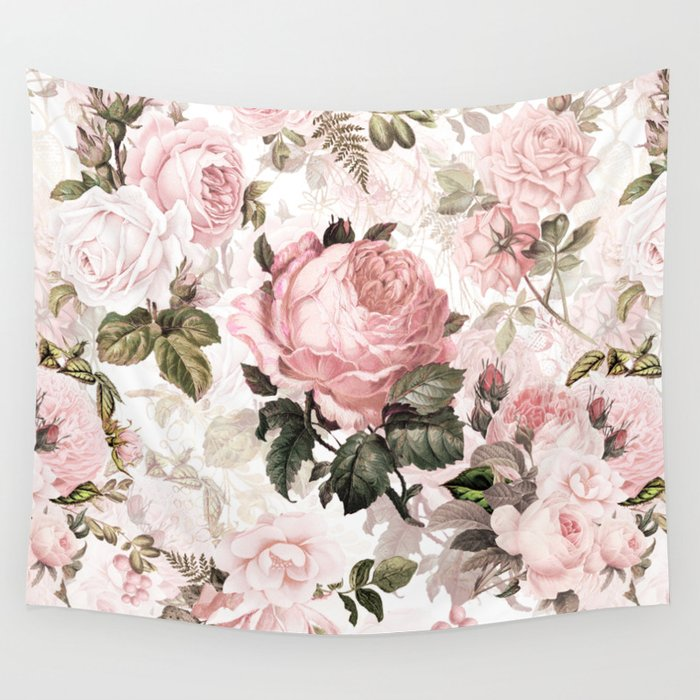 Vintage & Shabby Chic - Sepia Pink Roses  Wandbehang