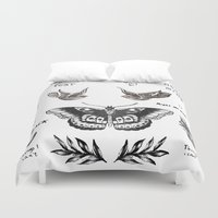 la Duvet Covers featuring Tattoo à la Harry by Kate & Co.