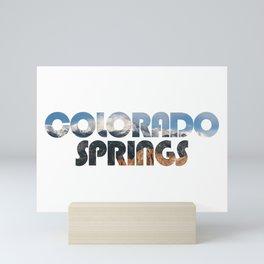 COLORADO SPRINGS and Pikes Peak Mini Art Print