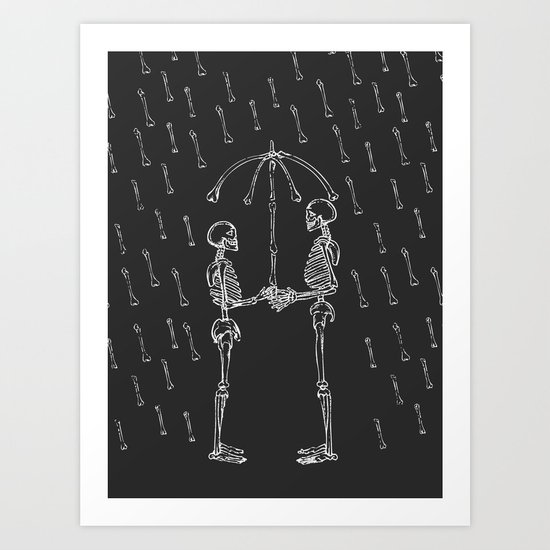 Raining Bone Art Print