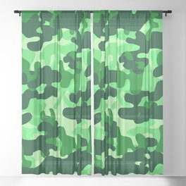 Camouflage (Green) Sheer Curtain