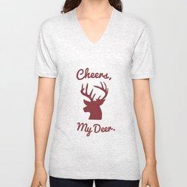 Cheers, My Deer. Unisex V-Neck