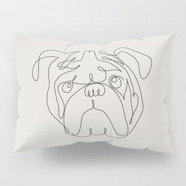 One Line English Bulldog Pillow Sham
