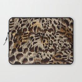 Beautiful fur high detailed vector leopard pattern design Laptop Sleeve