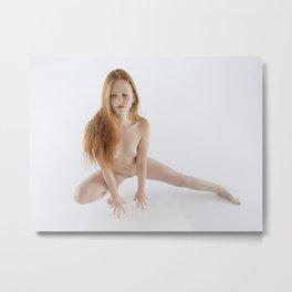 2066 PDJ Nude Redhead Woman Sensual High Key Photograph Metal Print
