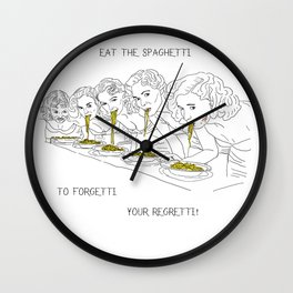 Girls and the Spaghetti Wall Clock