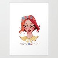 ginger Art Prints featuring Ginger by Diana Pedott Gaspar