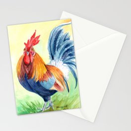 Kauai Island Rooster 4 Stationery Cards