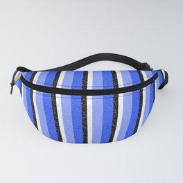 Speckled Blue Vertical Line Pattern Fanny Pack