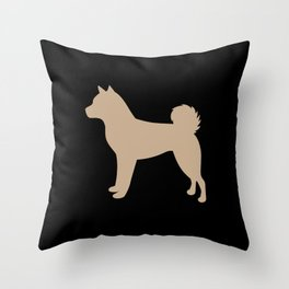 Shiba Inu (on Black) Throw Pillow