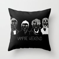 vampire weekend Throw Pillows featuring Vampire Weekend (Inverted) by ☿ cactei ☿