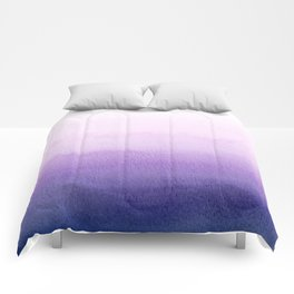 Purple Watercolor Design Comforters