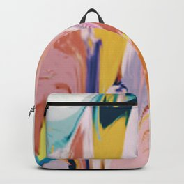Bloom [2]: a colorful, abstract digital painting Backpack