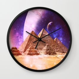 Galaxy Pyramids Wall Clock