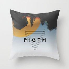 Night lovers Throw Pillow
