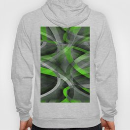 Eighties Vibes Lime and Grey Layered Curve Pattern Hoody
