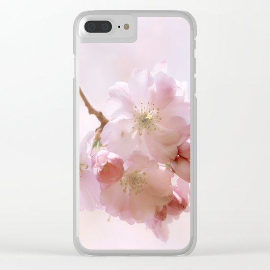 Cherry blossoms in Love - Cherryblossom Flower Floral Clear iPhone Case