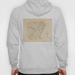 Vintage Map of Arkansas (1866) Hoody