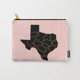 Texas map, USA Carry-All Pouch
