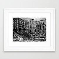 war Framed Art Prints featuring War by Shazer Simin