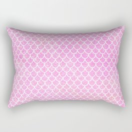 Pink Glitter Mermaid's Tail Rectangular Pillow