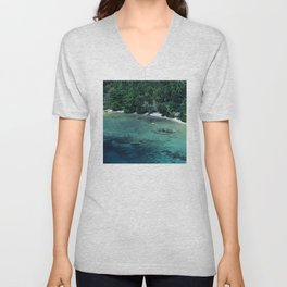 Tahiti White Sand Beach Romantic Getaway Unisex V-Neck