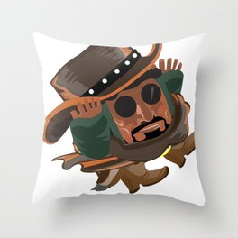 Chilli The Piercing Shot Throw Pillow