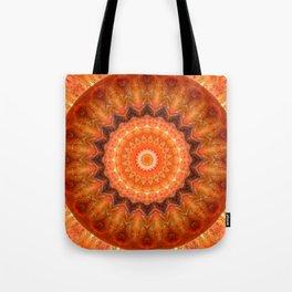 Mandala orange brown Tote Bag