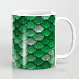 Green Mermaid Scales Coffee Mug