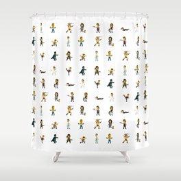 [BadAss Action Heroes] Shower Curtain
