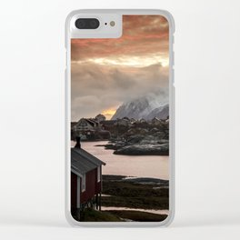 Sunset over the Lofoten Clear iPhone Case