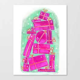 stack of gifts Canvas Print