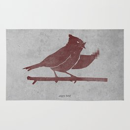 the bird is the f-word Rug