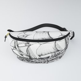 sailing ship . Home decor Graphicdesign Fanny Pack