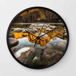 Rocky Reflection Wall Clock