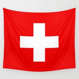 Swiss Flag of Switzerland Wall Tapestry